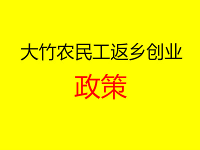 大竹县人民政府办公室关于鼓励支持农民工返乡创业的实施意见